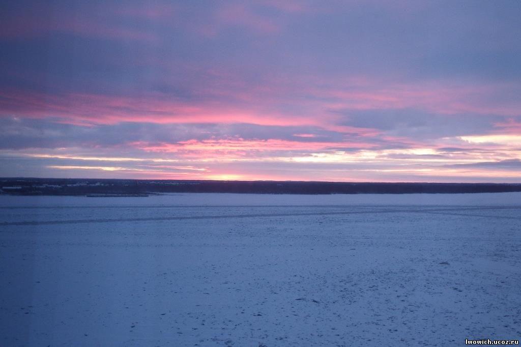 31 декабря 2018 года, закат над Северной Двиной, Архангельск